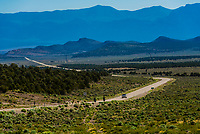 A remote, lonely stretch of Highway 6 in White Pine County, Nevada USA.