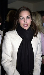 MISS JESSICA DE ROTHSCHILD daughter of banker Sir Evelyn de Rothschild, at a party in London on 30th March 2000.OCL 33<br /> © Desmond O'Neill Features:- 020 8971 9600<br />    10 Victoria Mews, London.  SW18 3PY<br /> photos@donfeatures.com  www.donfeatures.com<br /> MINIMUM REPRODUCTION FEE AS AGREED.<br /> PHOTOGRAPH BY DOMINIC O'NEILL