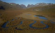 Hiking, trekking in the Kebnekaise mountain area, Giebnegaise, Lappland, Lapland, Norrbotten, Sweden, Kebnekaise Mountain Station, Laponia UNESCO World Heritage Site, Lapland, Sweden