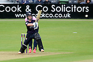 Ian Cockbain smashes the ball for four runs during the NatWest T20 Blast South Group match between Gloucestershire County Cricket Club and Middlesex County Cricket Club at the Bristol County Ground, Bristol, United Kingdom on 15 May 2015. Photo by Alan Franklin.