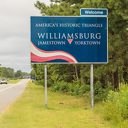 Welcome to Virginia Historic Triangle sign.