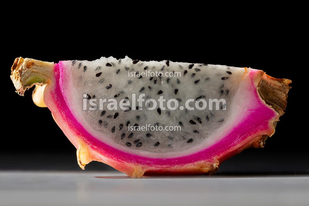 Slice of dragon fruit or pitaya.