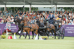 Chardon IJsbrand, (NED), Bravour, Don Marcell, Eddy, Winston E<br /> Cones Competition<br /> FEI European Championships - Aachen 2015<br /> © Hippo Foto - Dirk Caremans<br /> 21/08/15