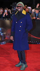 The Voice UK coach will.i.am arrives for the blind auditions in Salford, Manchester.