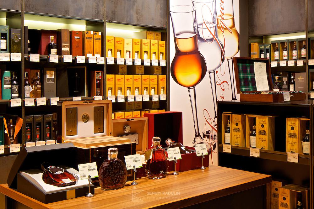 Good Wine interior photoshoot. Alcohol section. April, 2014.