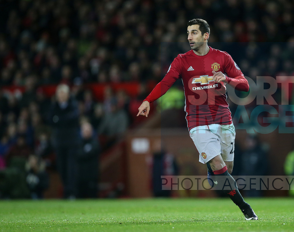 Manchester United's Hnerikh Mkhitaryan in action during the Premier League match at Old Trafford Stadium, London. Picture date December 26th, 2016 Pic David Klein/Sportimage