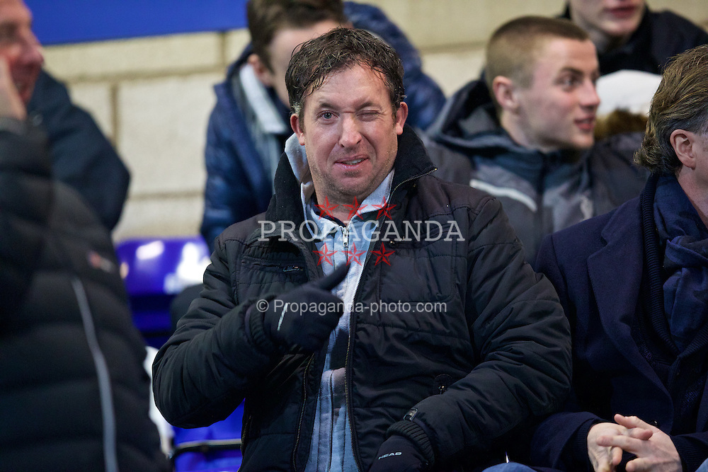 CHESTER, ENGLAND - Wednesday, January 21, 2015: Former Liverpool Robbie Fowler during the FA Youth Cup 4th Round match between Liverpool and Derby County at the Deva Stadium. (Pic by David Rawcliffe/Propaganda)