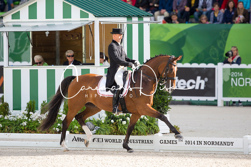 Lars Petersen, (DEN), Mariett - Grand Prix Special Dressage - Alltech FEI World Equestrian Games™ 2014 - Normandy, France.<br /> © Hippo Foto Team - Leanjo de Koster<br /> 25/06/14