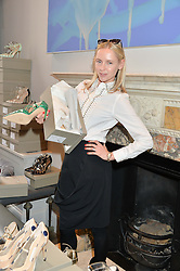 NADYA ABELA at a preview of Bionda Castana's new seasons shoes hosted by Alex Meyers and Bionda Castana and held at The Arts Club, 40 Dover Street, London on 4th March 2015.