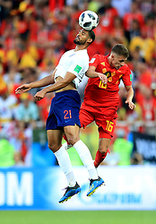 England's Ruben Loftus-Cheek (left) and Belgium's Thorgan Hazard (right) battle for the ball during the FIFA World Cup Group G match at Kaliningrad Stadium.