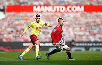 Football - 2020 / 2021 Premier League - Manchester United vs Burnley - Old Trafford<br /> <br /> Jack Cork of Burnley and Luke Shaw of Manchester United at Old Trafford<br /> <br /> Credit COLORSPORT/LYNNE CAMERON