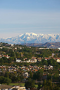 San Gabriel Mountains and Snow Capped Mt. Baldy Seen from Aliso Viejo