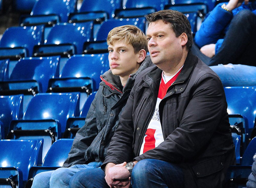 Lincoln City U18 fans enjoy the pre-match atmosphere<br /> <br /> Photographer Andrew Vaughan/CameraSport<br /> <br /> FA Youth Cup Round Three - West Bromwich Albion U18 v Lincoln City U18 - Tuesday 11th December 2018 - The Hawthorns - West Bromwich<br />  <br /> World Copyright © 2018 CameraSport. All rights reserved. 43 Linden Ave. Countesthorpe. Leicester. England. LE8 5PG - Tel: +44 (0) 116 277 4147 - admin@camerasport.com - www.camerasport.com