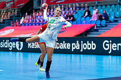 Evgenija Minevskaja of Germany during the Women's EHF Euro 2020 match between Germany and Poland at Sydbank Arena on december 07, 2020 in Kolding, Denmark (Photo by RHF Agency/Ronald Hoogendoorn)