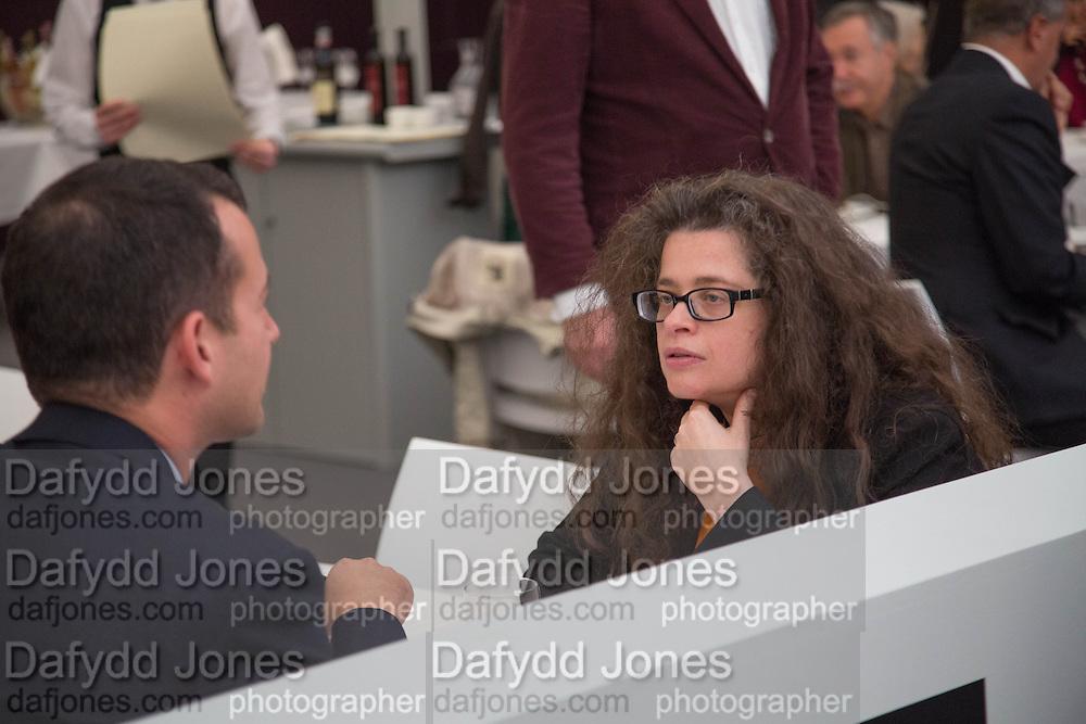 MATTHEW SLOTOVER; AMANDA SHARP, Opening of Frieze Masters. Regent's Park. London. 15 October 2013.