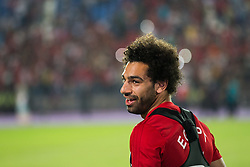 June 9, 2018 - Cairo, Egypt - Egyptian national soccer team striker Mohamed Salah attends his team's training session at Cairo international stadium in Cairo, Egypt, 09 June 2018. The Egyptian national soccer team prepares for the FIFA World Cup 2018 taking place in Russia from 14 June to 15 July 2018.  (Credit Image: RealTime Images)