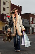 Amie Taylor shopping in downtown Purcell, Oklahoma for Oklahoma Living Magazine cover story