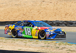 June 22, 2018 - Sonoma, CA, U.S. - SONOMA, CA - JUNE 22: Kyle Busch, driving the (18) Toyota for Joe Gibbs Racing negotiates turn 10 on Friday, June 22, 2018 at the Toyota/Save Mart 350 Practice day at Sonoma Raceway, Sonoma, CA (Photo by Douglas Stringer/Icon Sportswire) (Credit Image: © Douglas Stringer/Icon SMI via ZUMA Press)
