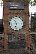 Twenty four hour clock and British units of measurement, Royal Observatory, Greenwich, London, England