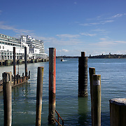 The Ferry Terminal at Auckland Harbour, showing the Hilton Hotel in the background. Auckland, North Island, New Zealand, 2nd November 2010. Photo Tim Clayton