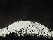 """Okada Koyo<br /> Cone of Mount Fuji among the reeds <br /> Date: ca. 1927 - 1930<br /> <br /> Exceedingly rare, very early vintage print by Okada, one of his first views of Mt. Fuji<br /> <br /> Description: Very rare early print by Okada that survived his studio being destroyed in World War II. Glossy, gelatin silver print, near vintage, much different than most Okada prints printed on textured semi matte surface photo paper. This prints also comes with a certificate signed and stamped by Okada, done from 1945 to the early 1950s. <br /> <br /> This print is very similar in style and substance to Okada's late 1920s work shot with Non-Panchro Ilford Dry Plate film. Additionally, this print is printed on glossy paper, the same as the documented print listed above entitled """"The Peak at Morning from Asayo Peak"""". This was printed during the 1930s to the early 1940s and is near vintage.<br /> <br /> Condition: Very good with deep rich tones and a trace amount of silvering on the edges. The certificate is creased vertically. The print comes matted in an archival mat board.<br /> <br /> Size: 10 1/2 x 8 1/2 in. (267 mm x 216 mm). <br /> <br /> Price: ¥450,000 JPY<br /> <br /> <br /> <br /> <br /> <br /> <br /> <br /> <br /> <br /> <br /> <br /> <br /> <br /> <br /> <br /> <br /> <br /> <br /> <br /> <br /> <br /> <br /> <br /> <br /> <br /> <br /> <br /> <br /> <br /> <br /> <br /> <br /> <br /> <br /> <br /> <br /> <br /> <br /> <br /> <br /> <br /> <br /> <br /> <br /> <br /> <br /> <br /> <br /> <br /> <br /> <br /> <br /> <br /> <br /> <br /> <br /> <br /> <br /> <br /> <br /> <br /> <br /> <br /> <br /> <br /> <br /> <br /> <br /> <br /> <br /> <br /> <br /> <br /> <br /> <br /> <br /> <br /> <br /> <br /> <br /> <br /> <br /> ."""