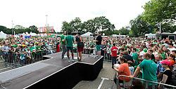 03.08.2014, Weserstadion, Bremen, GER, SV Werder Bremen, Tag der Fans, im Bild Robin Dutt (Cheftrainer SV Werder Bremen) auf der Bühne // during the supporters day of the german 1st Bundesliga Club SV Werder Bremen at the Weserstadion in Bremen, Germany on 2014/08/03. EXPA Pictures © 2014, PhotoCredit: EXPA/ Andreas Gumz<br /> <br /> *****ATTENTION - OUT of GER*****