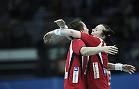 Håndball , 20. desember 2009 , Norge - Spania , Bronse-finale , hvor nordk tok 3. plassen<br /> World Cup China Game to square 3 Spain Norway 20 28 s Kristine Lunde Borgersen (L) and  Karoline Dyhre Breivang celebrate<br /> <br /> Norway only