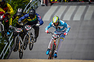 #247 (TE HIKO Brandon) AUS and #143 (TORRES Exequiel) ARG at Round 4 of the 2018 UCI BMX Superscross World Cup in Papendal, The Netherlands