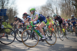 Rachel Neylan (Orica-Greenedge Cycling Team) rides in the main pack in the first, short lap of Trofeo Alfredo Binda - a 123.3km road race from Gavirate to Cittiglio on March 20, 2016 in Varese, Italy.