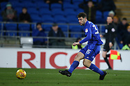 Yanic Wildschut of Cardiff city in action. EFL Skybet championship match, Cardiff city v Bolton Wanderers at the Cardiff city Stadium in Cardiff, South Wales on Tuesday 13th February 2018.<br /> pic by Andrew Orchard, Andrew Orchard sports photography.