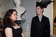 CHARLOTTE APPLEYARD; RYAN SCOTT, ROYAL ACADEMY CONTEMPORARY CIRCLE FUNDRAISING EVENT. Royal Academy. Piccadilly. London. 30 September 2010. -DO NOT ARCHIVE-© Copyright Photograph by Dafydd Jones. 248 Clapham Rd. London SW9 0PZ. Tel 0207 820 0771. www.dafjones.com.