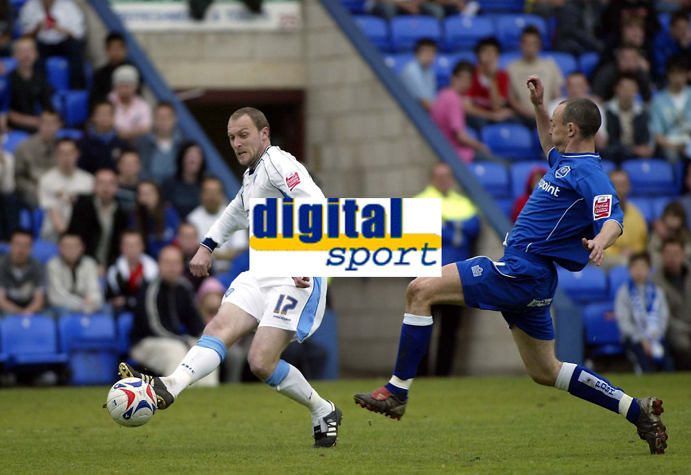 Photo: Marc Atkins.<br /> <br /> Peterborough United v Wycombe Wanderers. Coca Cola League 2. 06/05/2006. Wycombe's Charlie Griffin shoots on goal.