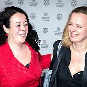 NLD/Rotterdam/20180124 - Openingsfilm IFFR 2018, premiere Jimmy, Salima Belhaj en Lousewies van der Laan