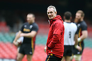 Wales coach Robert Howley looks on during the Wales Rugby captains run, ahead of tomorrows RBS Six nations match against England. Principality Stadium, Cardiff, South Wales on Friday 10th Feb 2017.   pic by  Andrew Orchard, Andrew Orchard sports photography.