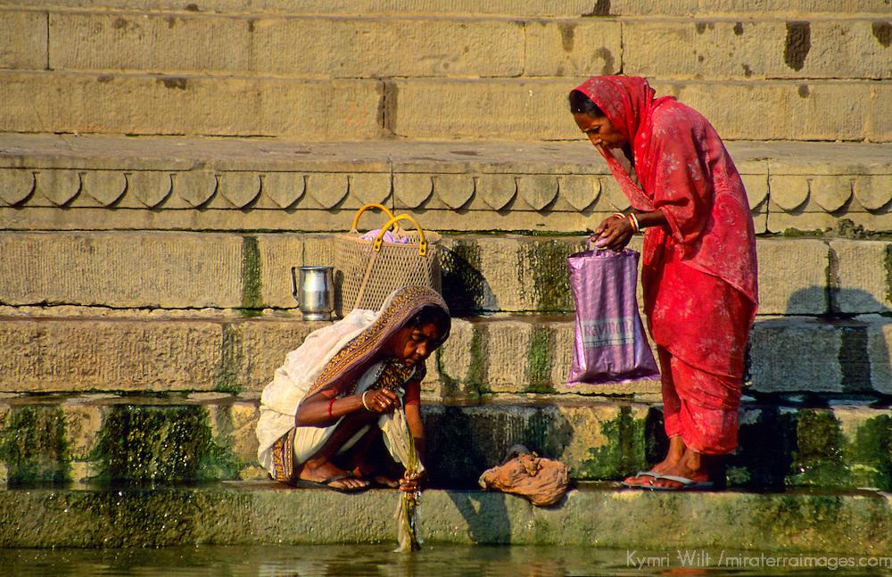 Asia, India, Varanasi. Women of the Ganges River.