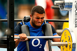 Kyle Sinckler of England trains in the gym at Clifton College - Mandatory by-line: Robbie Stephenson/JMP - 15/07/2019 - RUGBY - England - England training session ahead of Rugby World Cup
