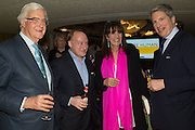 LORD KENNETH BAKER; ANDREW ROBERTS; GAIL REBUCK; LORD GORDON WASSERMAN, Launch of ' More Human',  Designing a World Where People Come First' by Steve Hilton. Party held at Second Home in Princelet St, off Brick Lane, London. 19 May 2015.