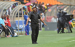 South Africa: Johannesburg: Seychelles head coach Gavin Jeanne gestures during the Africa Cup Of Nations qualifiers against Bafana Bafana at FNB stadium, Gauteng.<br /> Picture: Itumeleng English/African News Agency (ANA)