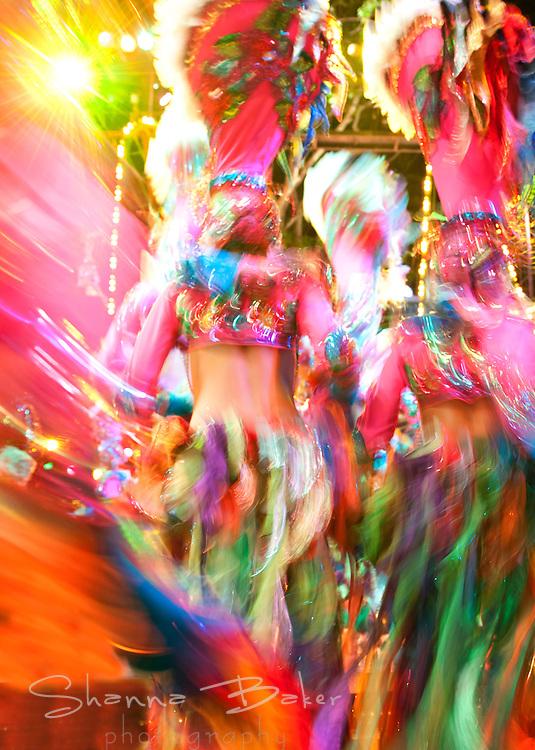 Swirl of dancers at the Tropicana, Havana, Cuba