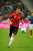FOOTBALL - UEFA EURO 2012 - QUALIFYING - GROUP STAGE - GROUP D - FRANCE v ALBANIA - 07/10/2011 - PHOTO GUY JEFFROY / DPPI - ANDI LILA (ALB)