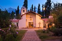IGLESIA DE USPALLATA NUESTRA SENORA DEL CARMEN DE CUYO, PROVINCIA DE MENDOZA, ARGENTINA