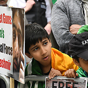 5th August 2021, Indian High commission London, UK: Kashmiris protest against the third year of heavy militarized lockdown and oppression by the Indian armys rape and murder massacre of Kashmiris. The highest massacre in modern history 80,000 kashmiris killed. Also The Indian armys use rape as a weapons of war from Kashmir to Khalistan war crime. Why the Unite Nation silent?.