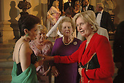 MRS. DUNIA FARMAN-FARMAIAU, BARONESS THATCHER AND LADY NOTT, Fund for Refugees in Slovenia Gala Dinner, The Great Hall. Royal Hospital. Chelsea. 12 June 2006. ONE TIME USE ONLY - DO NOT ARCHIVE  © Copyright Photograph by Dafydd Jones 66 Stockwell Park Rd. London SW9 0DA Tel 020 7733 0108 www.dafjones.com