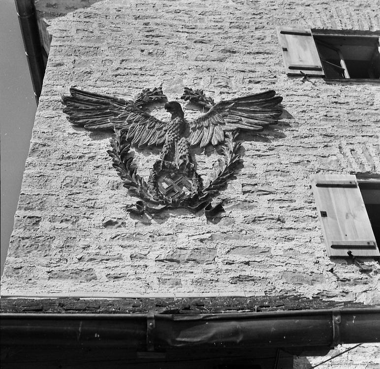 German Eagle Emblem, Police Ski School, Oberjoch, Bavarian Alps, c. 1938