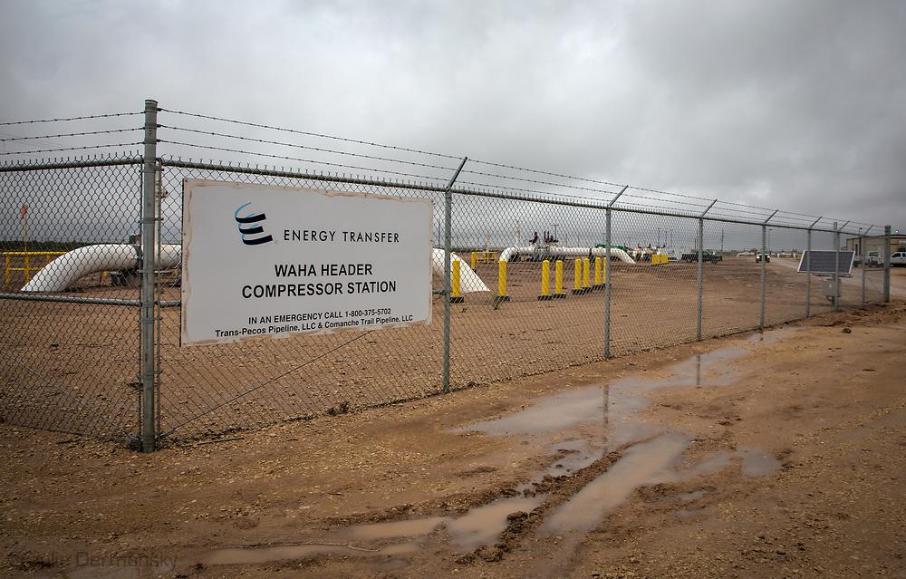 Energy Transfer Partner site in  Coyanosa, Texas in the Permain Basin.