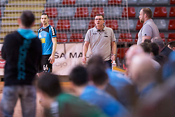 Zoran Jovicic, head coach of RD LL Grosist Slovan during handball match between RD LL Grosist Slovan and RK Jeruzalem Ormoz in 1st round of Playoffs of 1st NLB Leasing League 2017/18, on March 9, 2018 in Sports hall Kodeljevo, Ljubljana, Slovenia. Photo by Urban Urbanc / Sportida
