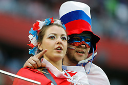 June 19, 2018 - Saint Petersburg, Russia - Russia supporters during the 2018 FIFA World Cup Russia group A match between Russia and Egypt on June 19, 2018 at Saint Petersburg Stadium in Saint Petersburg, Russia. (Credit Image: © Mike Kireev/NurPhoto via ZUMA Press)