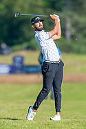 Erik Van Rooyen (RSA) plays his second shot on the 14th hole during the final round of the Aberdeen Standard Investments Scottish Open at The Renaissance Club, North Berwick, Scotland on 14 July 2019.