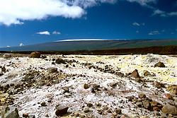 Halema`uma`u Crater and Mauna Loa, Kilauea Caldera, Hawaii, USA Volcanoes National Park, Big Island, Hawaii, USA