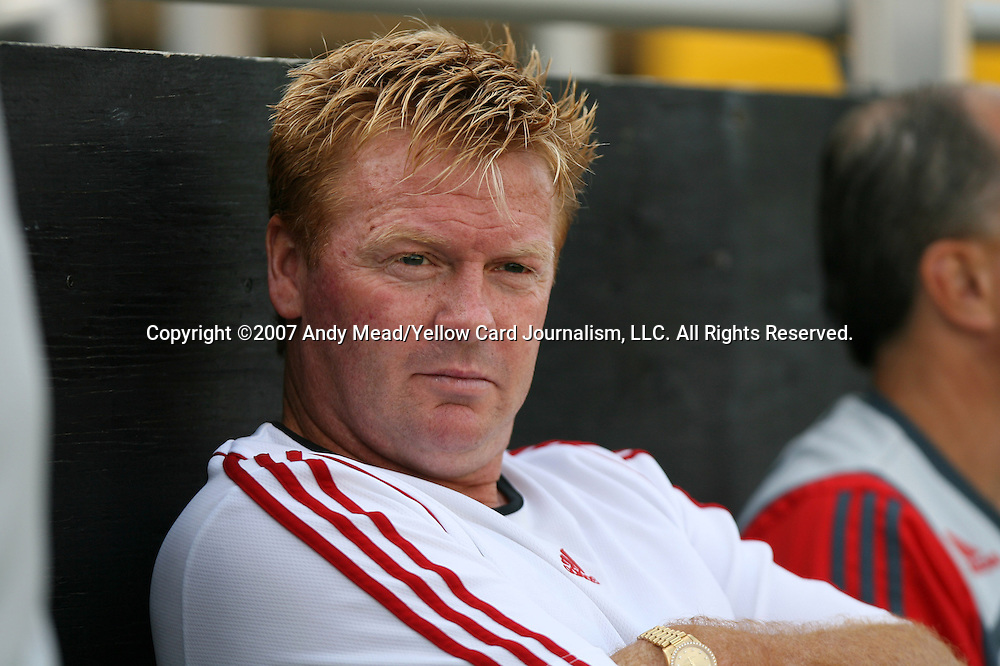 31 March 2007: Toronto head coach Mo Johnston.  The United Soccer League Division 1 Charleston Battery lost to Major League Soccer expansion team Toronto FC 3-0 in a preseason game at Blackbaud Stadium on Daniel Island in Charleston, SC, as part of the Carolina Challenge Cup.